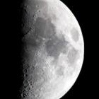 『寒中の上限の月(月齢7.6)』の画像