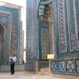 『ウズベキスタン旅行記40 見渡す限りの青の世界!サマルカンドブルーが美しい「シャーヒ・ズィンダ廟群」』の画像