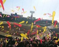 【西宮市】甲子園球場で初の成人式 阪神・矢野監督がメッセージ ジェット風船で祝う
