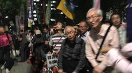 国会正門前で日本市民が抗議活動…「嫌韓やめろ」「憲法守れ」