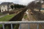冬の免除川は今。~春は桜がキレイなところ。冬の様子はこんな感じ~