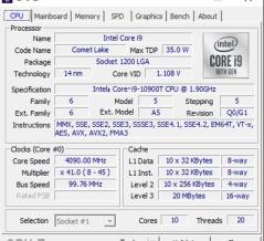 Core i9 10900Tレビュー