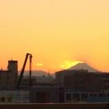 『戸田公園駅ホームから富士山が綺麗に見える冬です』の画像