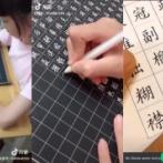 【画像】 まるでフォントのような美文字を書く中国の少女が話題に