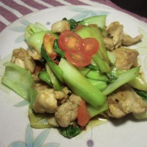 鶏肉とチンゲン菜のさっぱり炒め