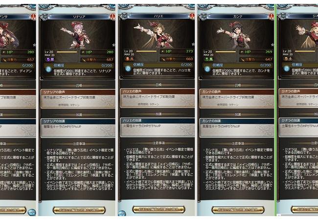 【グラブル】新召喚石の性能比較、ディアンサ、リナリア、ハリエ、カンナ、ジオラ【舞い歌う五歌】
