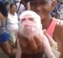 【衝撃】サル顔のブタが発見される 不吉の予兆か