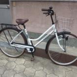 『リサイクル自転車 26インチシティーサイクル ブラウンタイヤ』の画像