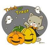 『かぼちゃネコのイラスト』の画像