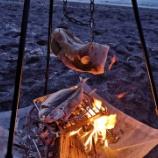 『【キャンプ】トライポッドでベーコン作り』の画像