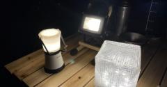 【キャンプ】本日使ったライト3つ。ソーラー充電はしっかり明るい!