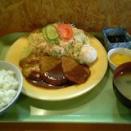 今日のコブタランチ 豚ヒレソテーカレー風味定食