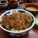 「とんかつ茅」で「ソースかつ丼」(中央区)