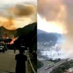 【動画】中国、高速道路でタンク車が大爆発!車体が吹っ飛び工場に衝突し2次爆発! [海外]