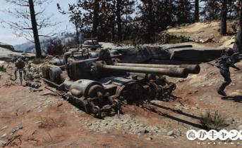 ロボットと破壊された戦車