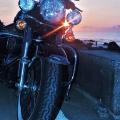 バイクと日の出