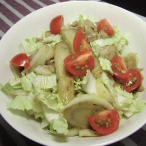 ごぼうと白菜の温サラダ