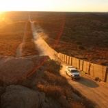 『米国の国境壁建設で分断される生き物たち』の画像