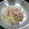 アルミのフライパンで作る「タラと海老のクリームパスタ 」&「お一人様卵焼き鍋はウインナー焼くのも便利です」