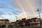 とある、9月初旬。交野にむっちゃ大きな『虹』が出てたみたい