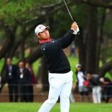 『松山英樹 いざ!ムービングサタデーへ 男子ゴルフダンロップフェニックス』の画像