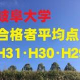 『岐阜大学の合格者の平均点を調べてみた。H31・H30・H29~工学部の配点変化に注意!』の画像