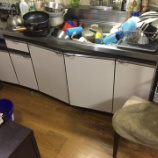 『大阪府高槻市 台所の床が水漏れ -排水管つまり・高圧洗浄-』の画像