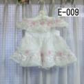 ピンクのバラとレースの子供ドレス 白(80cm)SOLD OUT