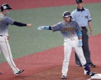 阪神・梅野が適時三塁打 「ファン投票で選んでいただいたので、何とか良い姿を見せたかった」