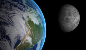 地球を遠く離れた人工衛星が撮影した「地球と月の距離感がよくわかる1枚」
