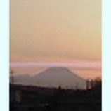 『夕日に霞む富士』の画像