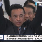 『【速報】鈴木康友氏が当選確実、NHKより開票とほぼ同時に報道【統一地方選2019】』の画像