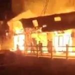 【動画】中国、消防士4人が火事の炎の中に突入!その時、壁が崩れ落ち下敷きに…!? [海外]