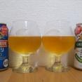 キリンビールの一番搾り 糖質0と淡麗 グリーンラベルを飲み比べてみました。