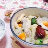 『足先が冷えたので、生姜・手羽元・なつめの薬膳スープを♪』の画像