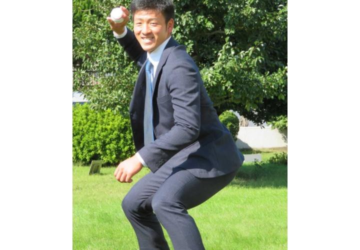 巨人ドラ2岸田「打てる捕手が一番かっこいい。古田さんのような選手になりたい」