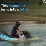 『水陸両用バイク「ビスキー Biski」!』の画像