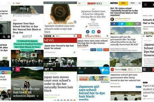 【悲報】 髪染強要高校と大阪府、世界中から叩かれてしまう のサムネイル画像