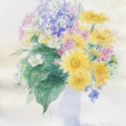 『アクリル絵の具で描く水彩画(花と茨城の風景)』の画像