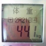 『44.1kg【最小体重】に戻りました。先週の、週間平均摂取カロリー』の画像