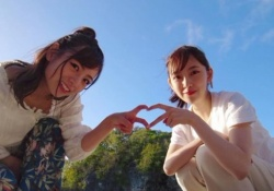 これぞ青春! 北野日奈子×堀未央奈、背景も2人も最高なショットがコレ!!!