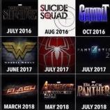 『今後のスーパーヒーロー映画!』の画像