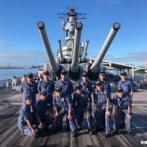 海自潜水艦「ずいりゅう」の乗員、訓練の合間を利用して戦艦ミズーリ記念館を訪問!
