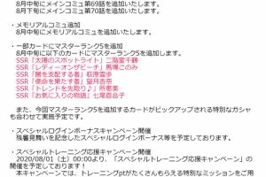 【ミリシタ】イベント『MILLION LIVE WORKING☆ ~夏到来!アイドル水上大運動会2020~』開演!&8月開催情報公開!
