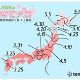 『今年の桜の開花日は3月26日〜31日? 日本気象協会が発表』の画像