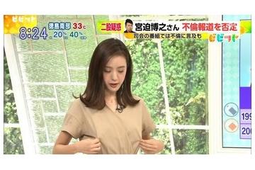 古谷有美さん自分で乳首をつまむ