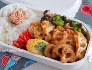 弁当の焼き明太子はレンジ1分調理(蒸し焼きと変わらない!)|揚げ餃子弁当とツクレポ