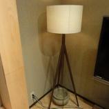 『【セール情報・期間限定セール・2011年秋】 日進木工のブラックウォールナット材のFLOOR LAMP・NK-300-W』の画像