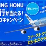 『7月31日『ANA FLYING HONUチャーターフライト』はエコノミー席のみ販売!---F、Cクラスはnanacoキャンペーンでプレゼント!---』の画像