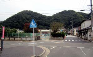 災害ゴミが搬出された幼稚園跡
